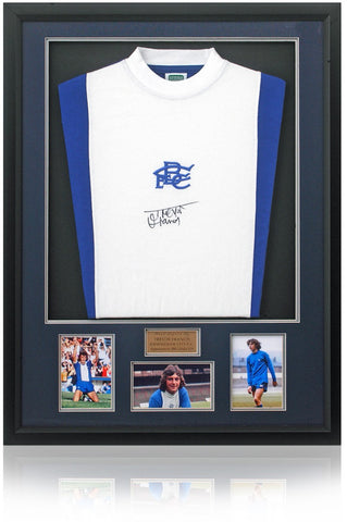 Trevor Francis Hand Signed Retro Birmingham City Home Shirt Photo COA