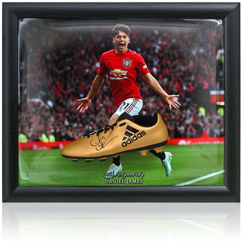 Daniel James Hand Signed Manchester United Football Boot Presentation COA