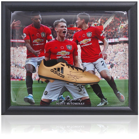 Scott McTominay Hand Signed Manchester United Football Boot Presentation COA