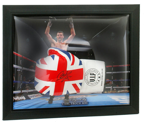Carl Froch, MBE Hand Signed Boxing Glove Presentation Photo COA