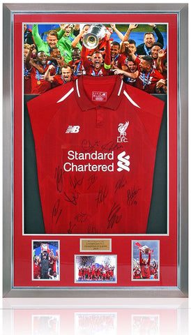 Liverpool Champions League Winners 2018-19 Official Home Shirt Hand Signed By 14