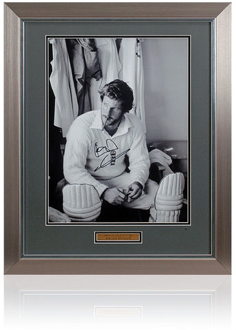 Sir Ian Botham OBE Hand Signed England Cricket 16x12'' Photograph Photo COA