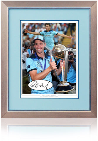 Chris Woakes Hand Signed England Cricket World Cup 2019 Montage AFTAL COA
