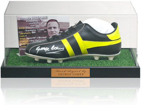 George Cohen Hand Signed Football Boot Fulham AFTAL COA