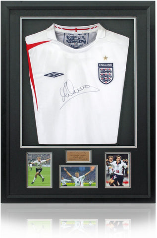 Michael Owen Hand Signed England Football Retro Shirt AFTAL COA