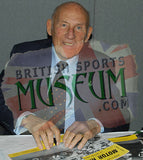 Sir Stirling Moss OBE Hand Signed 1955 Motor Racing Magazine Formula 1 Presentation COA