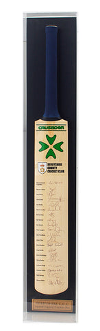 Cricket Bat Hand Signed by Derby CCC 2007 Team AFTAL COA