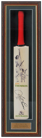 Cricket Bat Hand Signed by Jeff Thomson AFTAL COA
