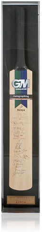 Cricket Bat Hand Signed by Kenya 1999 Cricket World Cup Team AFTAL COA