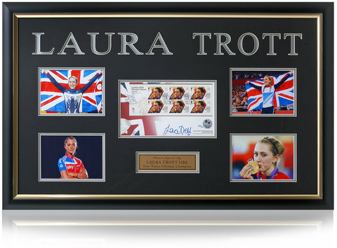 Laura Trott Hand Signed Cycling Stamp Presentation London 2012 Olympics