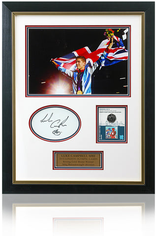 Luke Campbell MBE Hand Signed Boxing Coin Presentation London 2012 Olympics