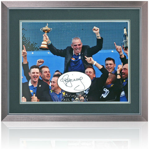 Paul McGinley Hand Signed Photograph Golf Presentation AFTAL COA