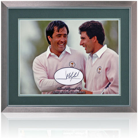 Jose Maria Olazabal Hand Signed Photograph Golf Presentation AFTAL COA