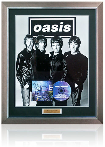 Oasis 'Standing on the Shoulder of Giants' CD Cover Presentation Hand Signed By Noel