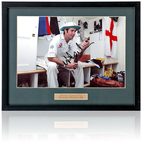 Michael Vaughan Hand Signed 12x8'' England Cricket Photograph