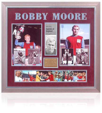 Bobby Moore Hand Signed West Ham United Captain Presentation AFTAL COA