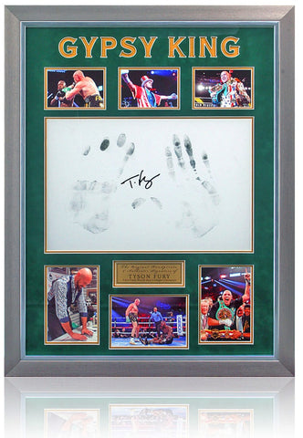 Tyson Fury Hand Signed Autograph & Rare Hand Print Boxing Display AFTAL COA