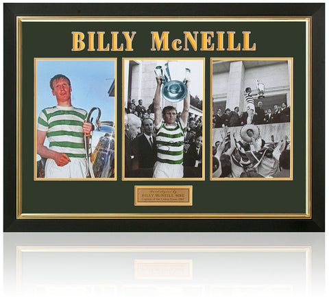 Billy McNeill Celtic Captain Of The Lisbon Lions Hand Signed Presentation AFTAL Photo COA