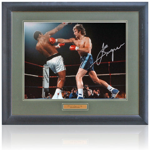 Joe Bugner Hand Signed 16x12'' Boxing Photograph AFTAL Photo COA