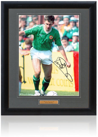 Kevin Sheedy Hand Signed 16x12'' Republic of Ireland Photograph AFTAL COA