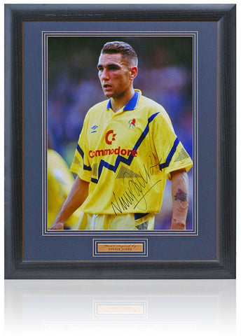 Vinnie Jones Hand Signed 16x12'' Framed Chelsea Photograph AFTAL COA
