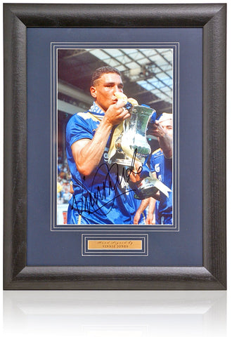 Vinnie Jones Hand Signed 12x8'' Framed Wimbledon Photograph AFTAL COA
