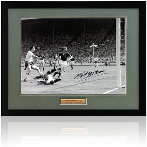 Nat Lofthouse Hand Signed 12x8'' Framed Bolton Wanderers Photograph AFTAL COA
