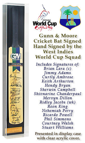 GM Cricket Bat Hand Signed by West Indies 1999 World Cup Squad AFTAL COA
