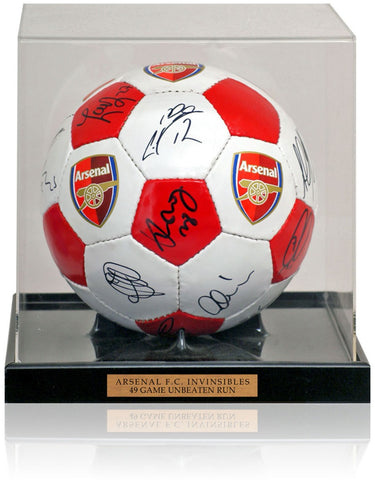 Arsenal F.C. 2004 The Invincibles Squad Hand Signed by 16 Football AFTAL COA