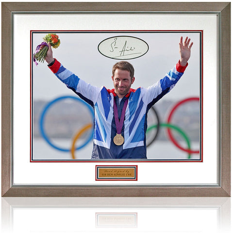 Sir Ben Ainslie Hand Signed Olympics World Champion Presentation AFTAL COA