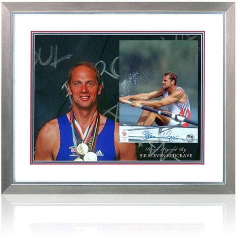 Sir Steve Redgrave Hand Signed Rowing Presentation London Olympics COA