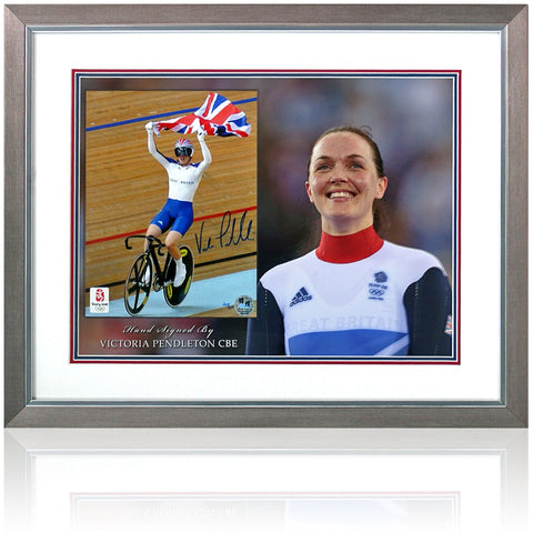 Victoria Pendleton Hand Signed Cycling Presentation London 2012 Olympics COA
