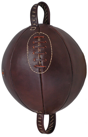 Vintage style Leather lace-up Boxing Punch Ball.
