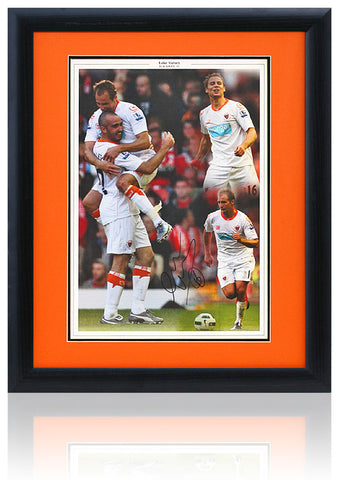 Luke Varney Hand Signed by Blackpool FC Framed Montage AFTAL COA