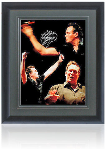 "Bobby George Hand Signed 16x12"" Darts Montage AFTAL COA"