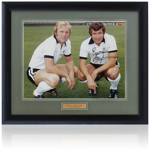 "Alan Mullery Hand Signed Fulham Bobby Moore 16x12"" Photo AFTAL COA"