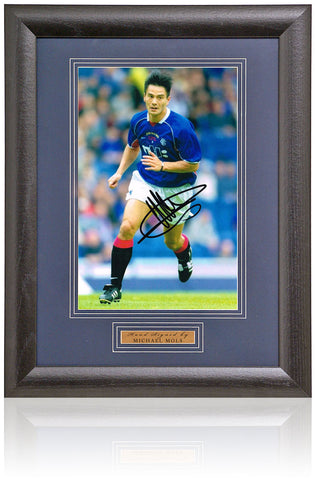 Michael Mols Hand Signed 12x8 Glasgow Rangers Framed Photograph COA