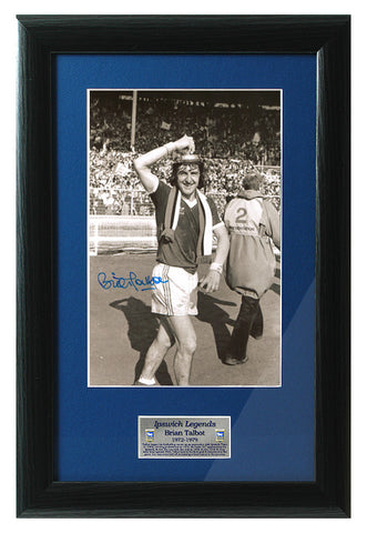 Brian Talbot Hand Signed 12x8'' Ipswich Town 1978 FA Cup Photograph AFTAL