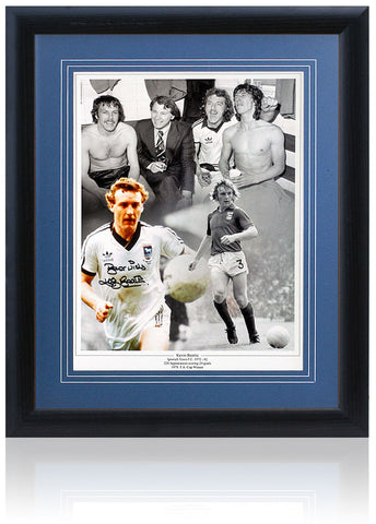 "Kevin Beattie Hand Signed 16x12"" Photograph Ipswich Town AFTAL COA"