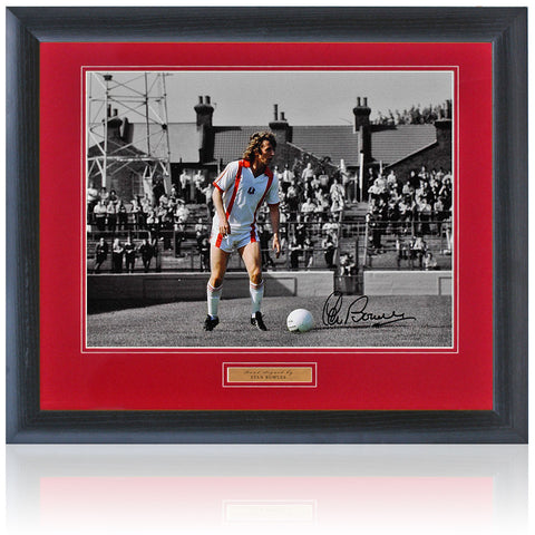 "Stan Bowles Hand Signed Framed Leyton Orient 16x12"" Photograph AFTAL COA"