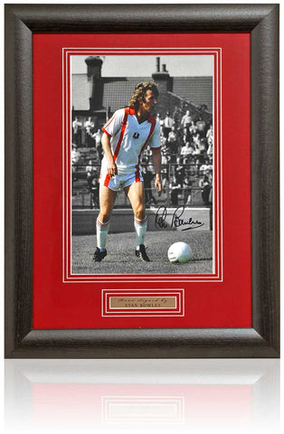 Stan Bowles Hand Signed Leyton Orient 12x8'' Framed Photograph AFTAL COA