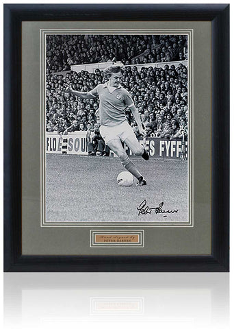 Large Peter Barnes Manchester City Hand Signed Framed Photograph 23x19''
