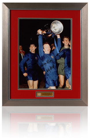 Manchester United 1968 European Cup Final Hand Signed by 5 AFTAL COA