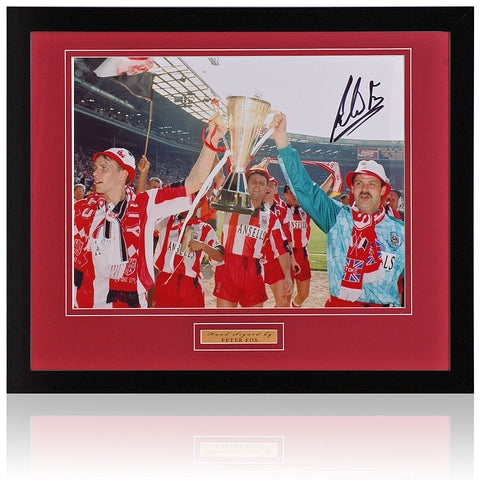 Peter Fox Hand Signed Framed Stoke City 10x8'' Photograph AFTAL COA