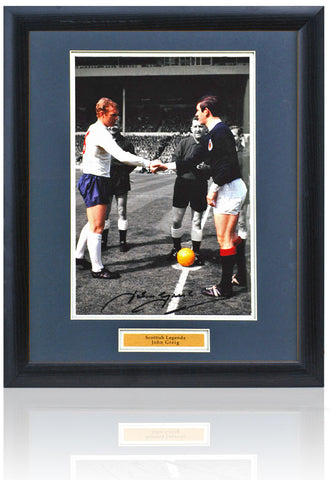 John Greig hand signed 16x12'' Scotland Football photograph