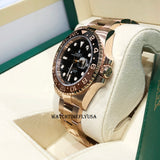 Rolex 126715 GMT-Master II Rose Gold Black And Brown Rootbeer