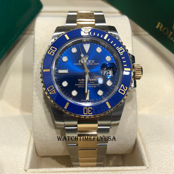 Rolex 116613 Submariner Date Steel and Gold Blue Dial Two Tone