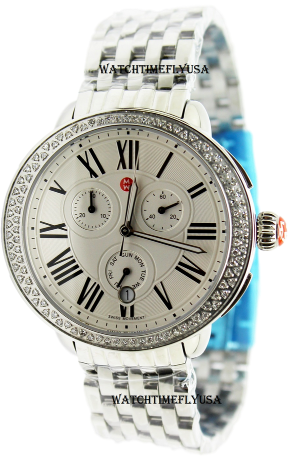 MICHELE Serein Chronograph Silver Dial Ladies Watch MWW21A000001