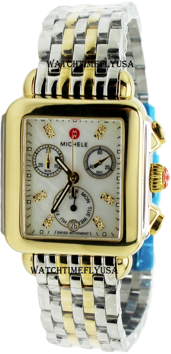 MICHELE Signature Deco Mother of Pearl Dial Ladies Watch MWW06P000122