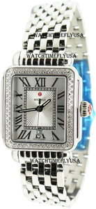 MICHELE Deco Madison Stainless Steel Cashmere Diamond Watch MWW06T000165
